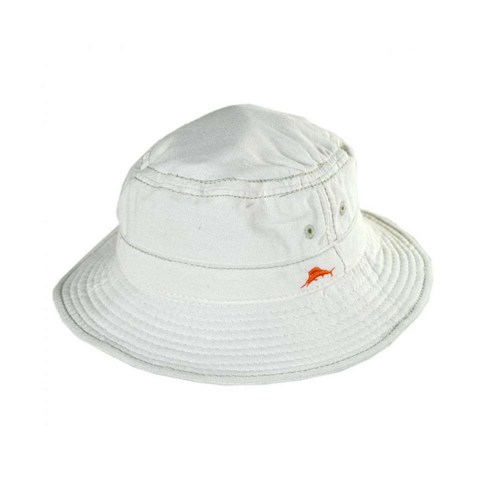 Tommy Bahama Cotton Bucket Hat in White  2c841a7a2fb