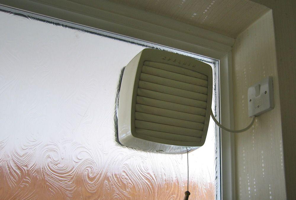 bathroom windows with extractor fans
