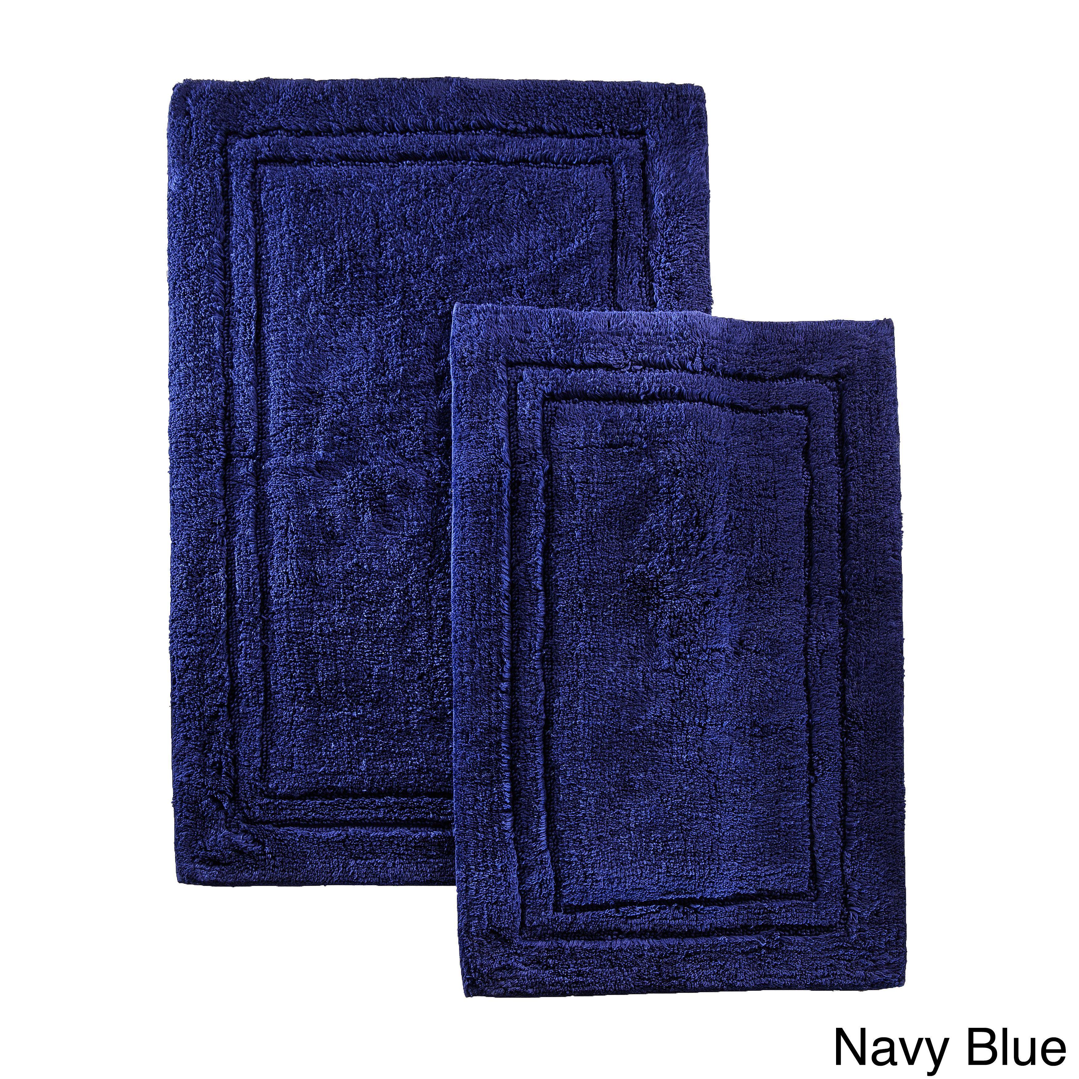 Superior Luxurious Combed Cotton Non Skid Bath Rug Set Set Of 2