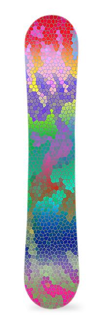 Colmena. Diseño de vinilo para snowboard. #greenmonkeybanana