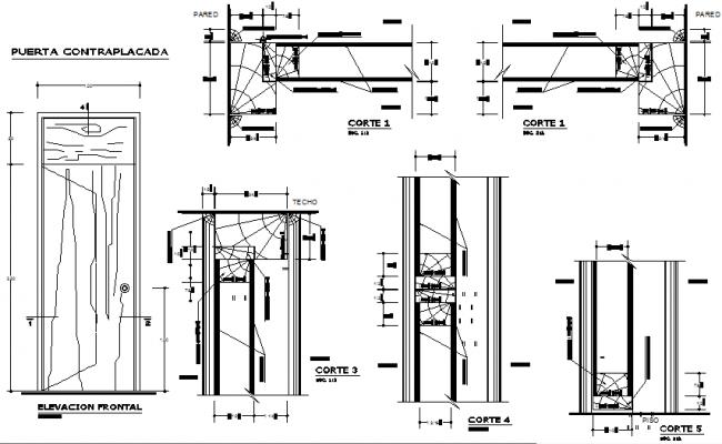 Details Wooden Door Dwg File Wooden Doors Window Blocks Door Plan