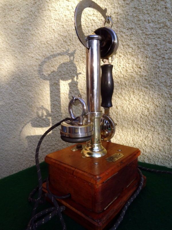 ancien telephone antique vintage old phone deco alte telefon picart lebas ebay telephones. Black Bedroom Furniture Sets. Home Design Ideas