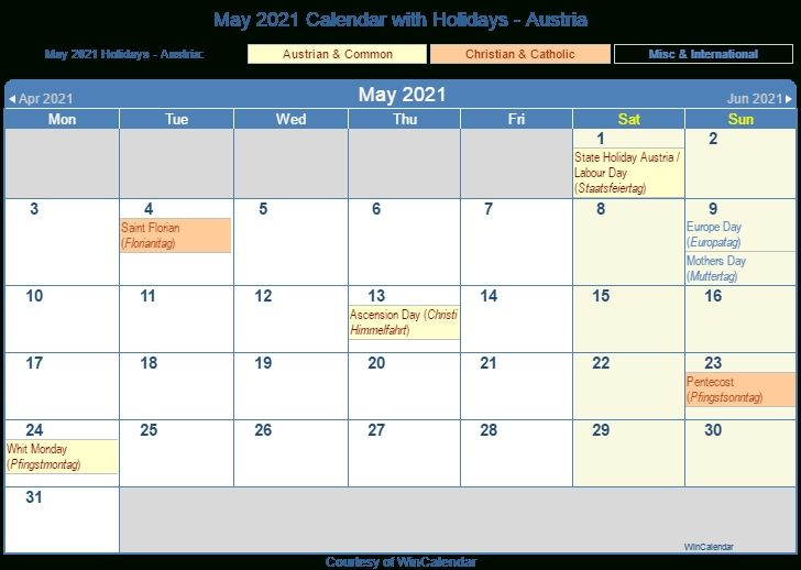 May 2021 Calendar Holidays Printable
