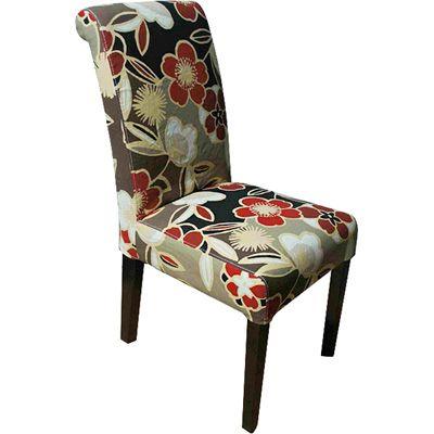 Kensington Set of 2 Upholstered Dining Chairs - Trendsetter Red