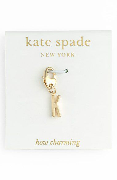 If only I wasn't allergic to my Silver charm bracelet!  kate spade new york 'how charming' initial charm | Nordstrom