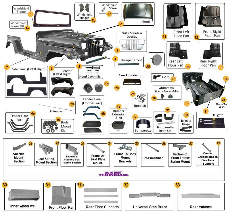 jeep wrangler yj body parts diagram jeep pinterest jeeps rh pinterest com 2003 jeep liberty exhaust system diagram jeep cj7 exhaust system diagram