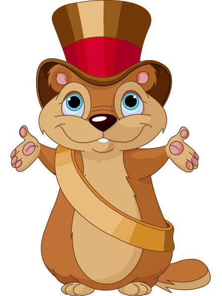 This Groundhog Is All Decked Out In Its Eye Catching Top Hat And Is Ready To Visit Your Friends On Facebook Animal Icon Groundhog Day Cartoon Animals