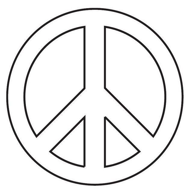 dibujo símbolo día de la paz | patrones para pintar | Pinterest ...