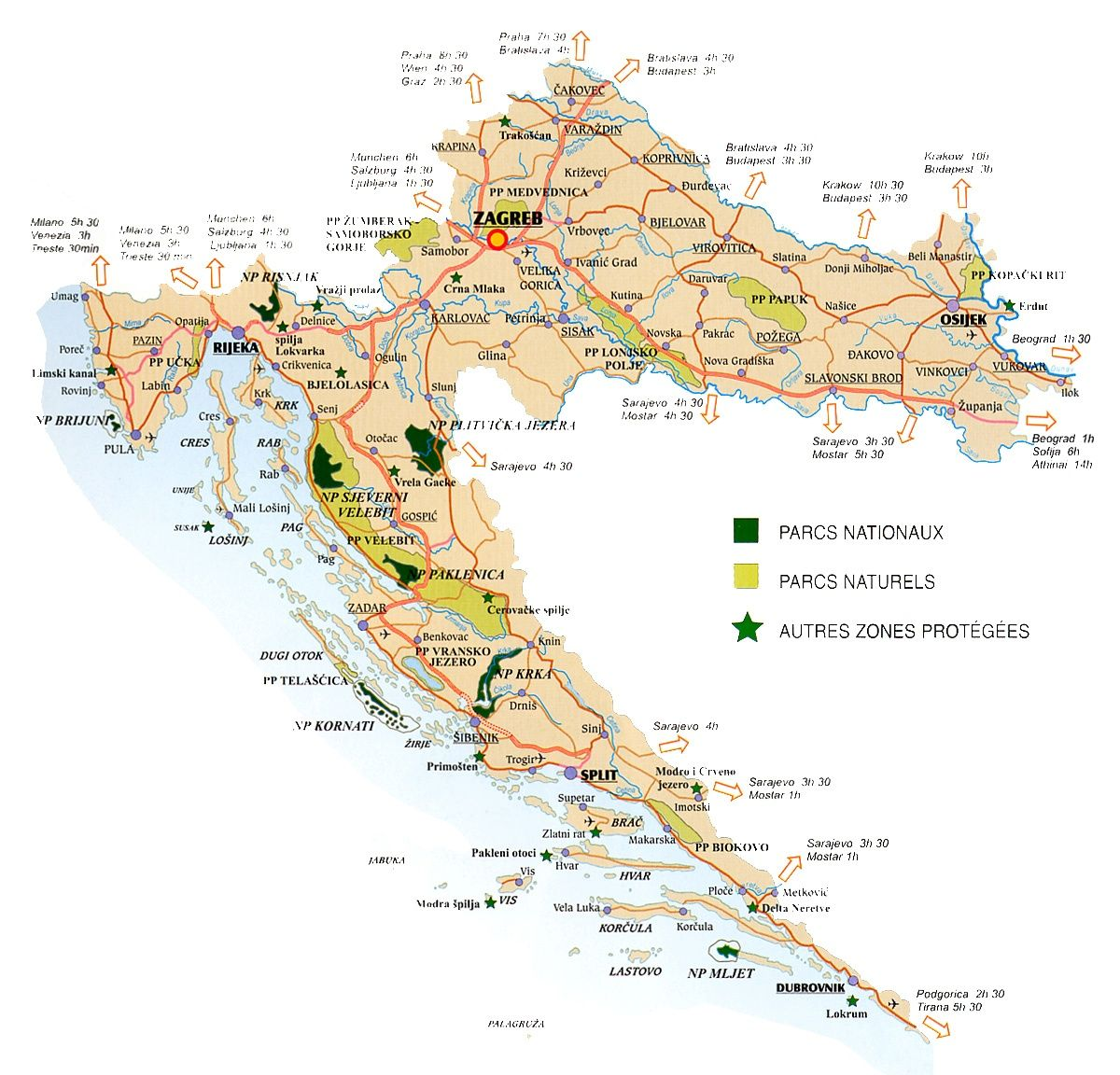 Carte Croatie | Toutes les cartes | Pinterest | Carte croatie