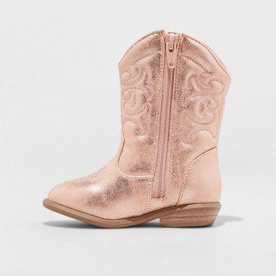 36a741ff2c9 Toddler Girls' Christine Metallic Cowboy Boots - Cat & Jack Rose ...