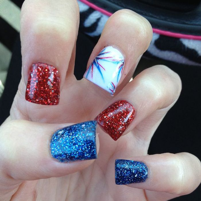 4th of July Nail Art Design | Memorial Day | Nailing DV - Red ...