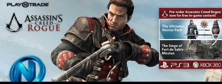 PLEASE VISIT OUR STORE AT NORTHGATE MALL , MCPHILLIPS  WE ACCEPT ORDERS - ASSASSINS CREED ROGUE $0.00 USD