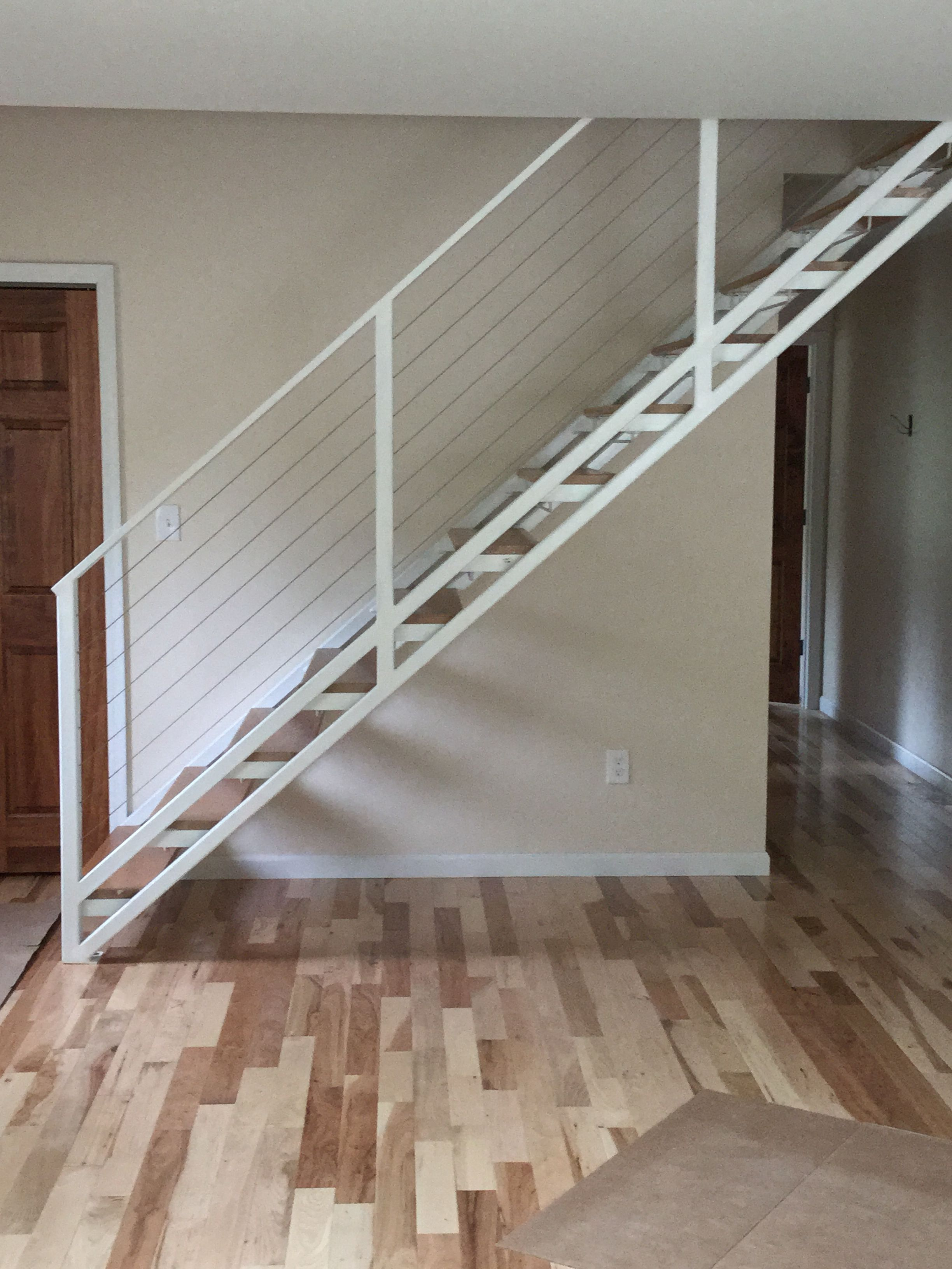 """We Recently Design This Outer Stringer Like A Pan Stair With 2""""X2   Converting Spiral Staircase To Straight   Wood   House   Stair Case   U Shaped   Loft Conversion"""