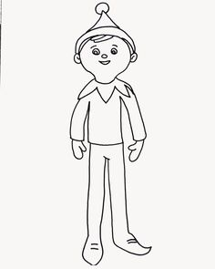 Boy Elf Coloring Page Elf On The Shelf Christmas Coloring Pages Coloring Pages