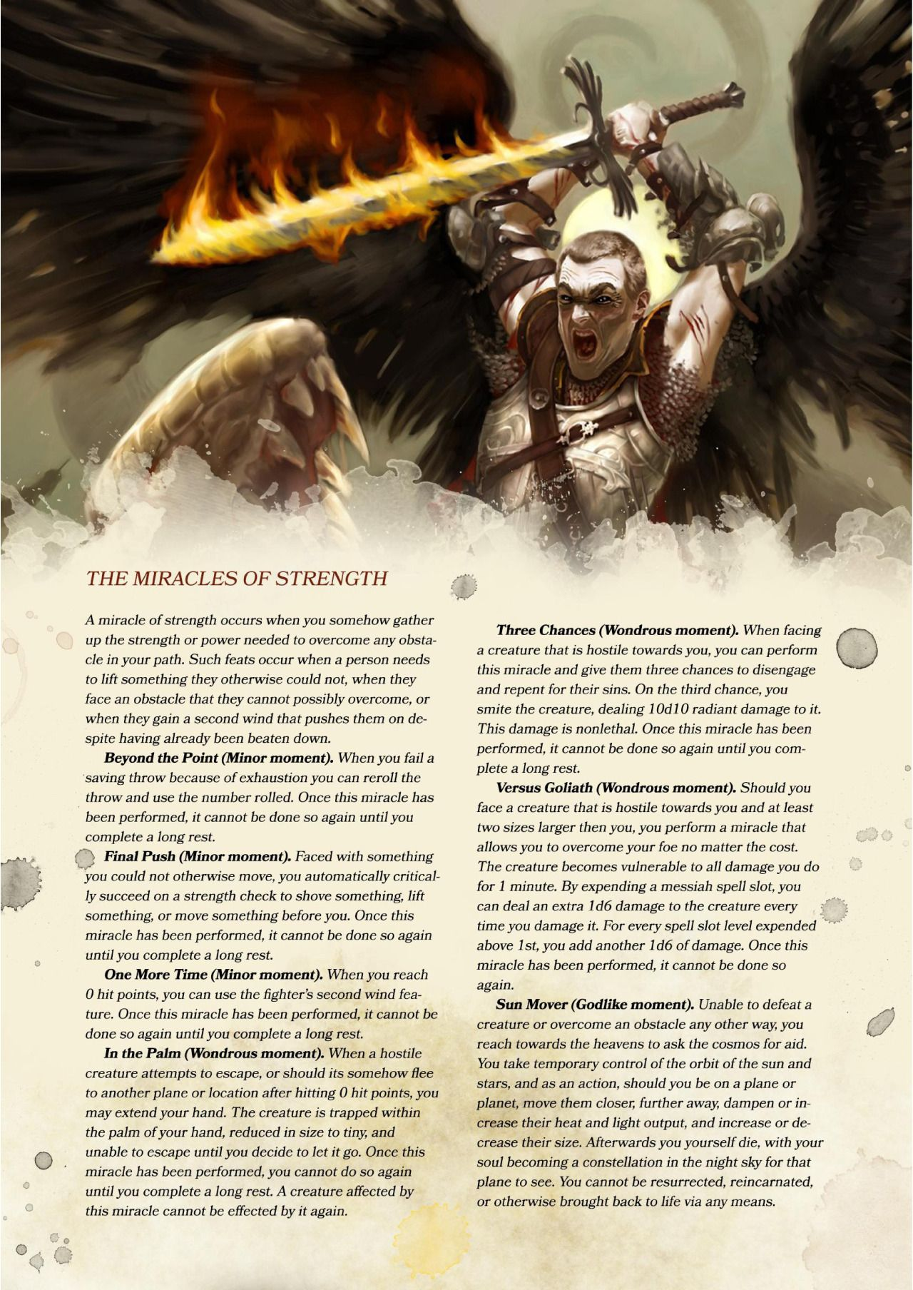 "The Angel Compendium"" excerpt part 4: Messiah Prestige class and"