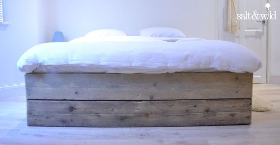 Reclaimed Scaffold Board Bed Base By Saltandwild On Etsy Wooden