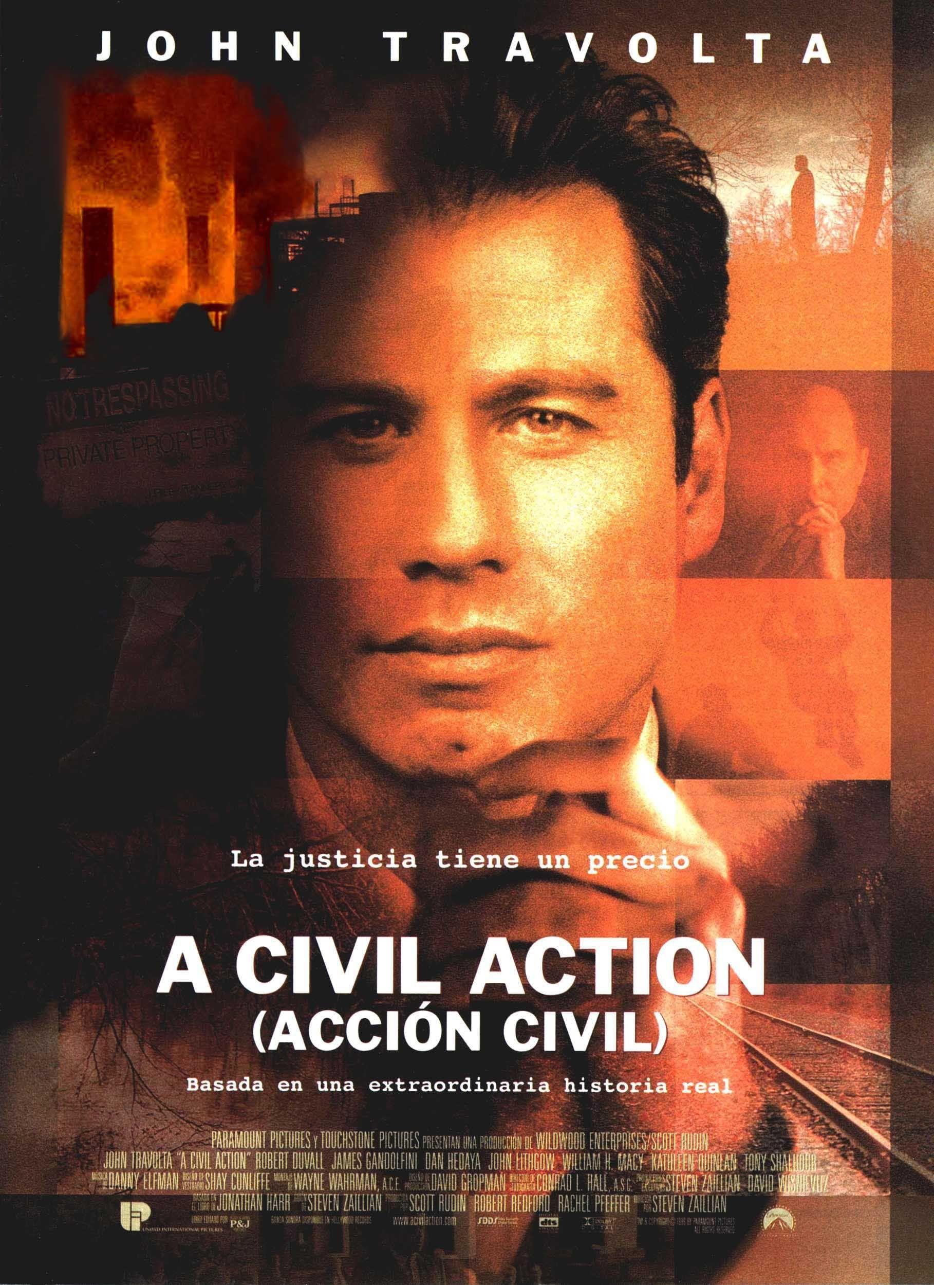 Accion Civil Action Movie Poster John Travolta Robert Duvall