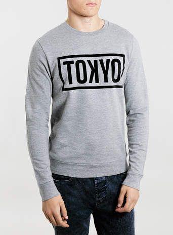 Grey Marl Tokyo Sweatshirt - $48