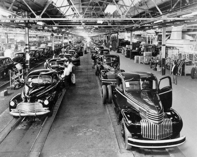 After World War ll, Chevrolet begins production of ...