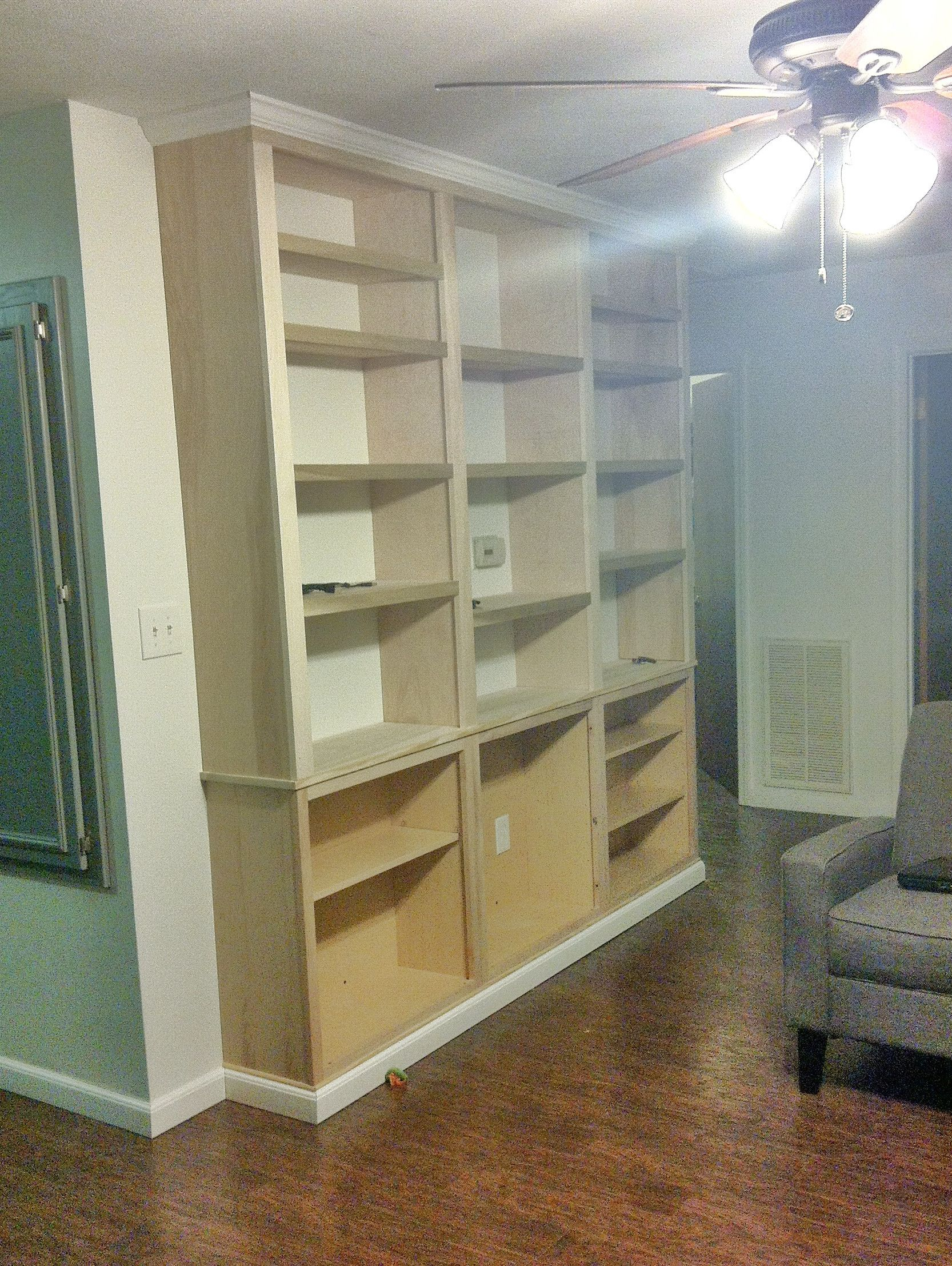 Excited To Share My Diy Built In Bookcase  Album On