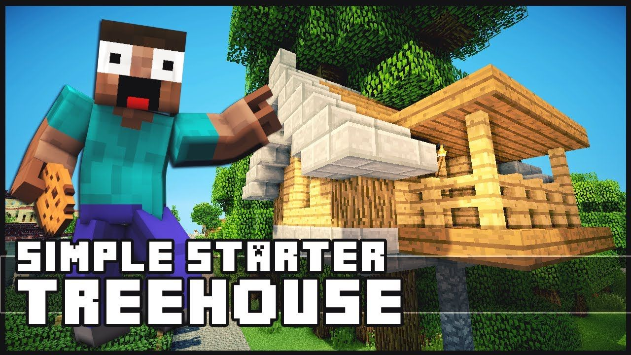 Minecraft How To Build A Simple Starter Treehouse I Would Just