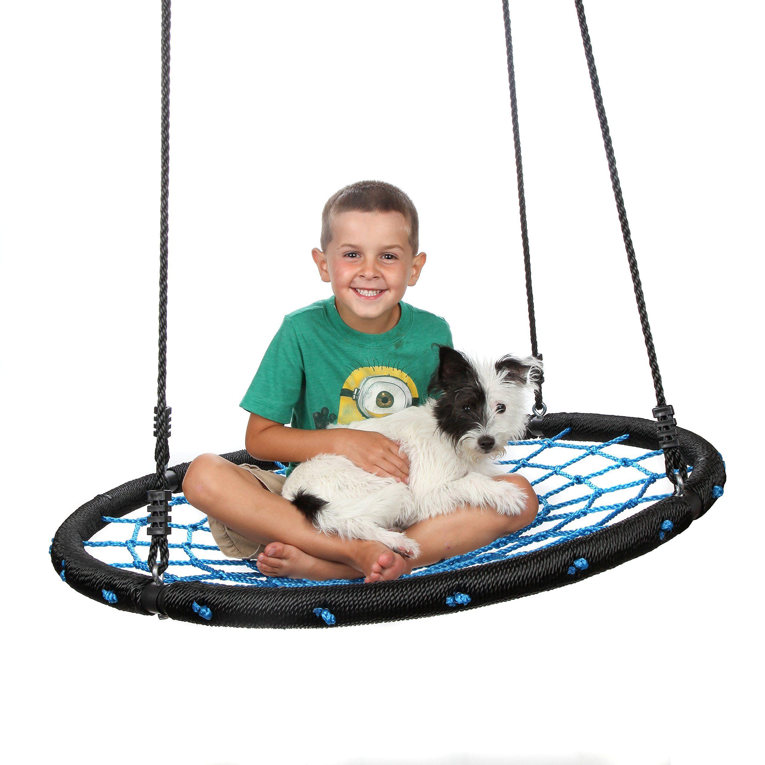 Outdoor Spider Web Tree Swing For Adults Children Backyard Net