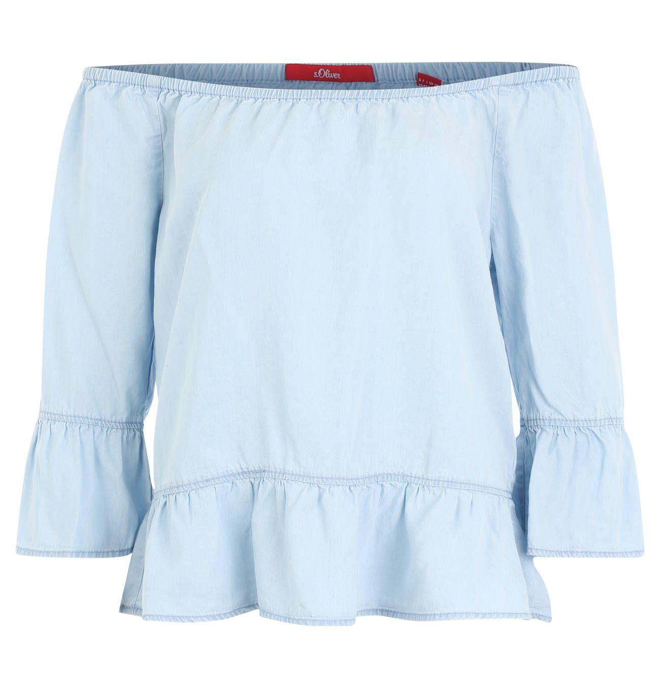 ac85436c3de7 Jeans, jeans, jeans und noch mehr jeans heißt es diesen Sommer. Diese  schicke Bluse von s.Oliver lässt sich super kombinieren