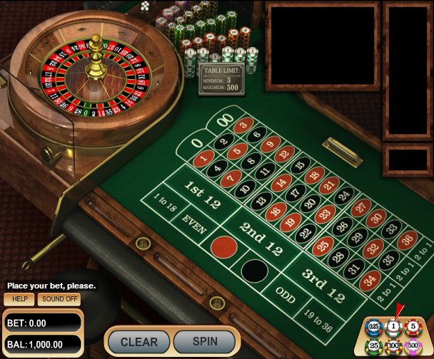 Our casino delivers a very usable American Roulette game