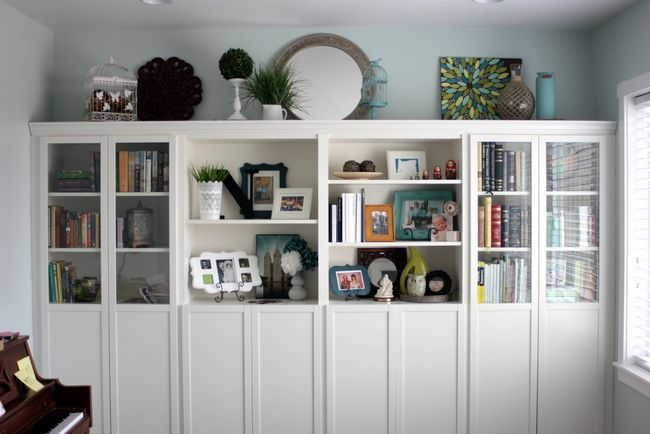 Ikea Billy Bookcases Customised To Look Like Built In