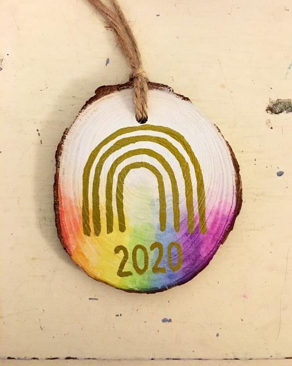 Rainbow bauble rainbow of hope 2020 Christmas decoration   Etsy