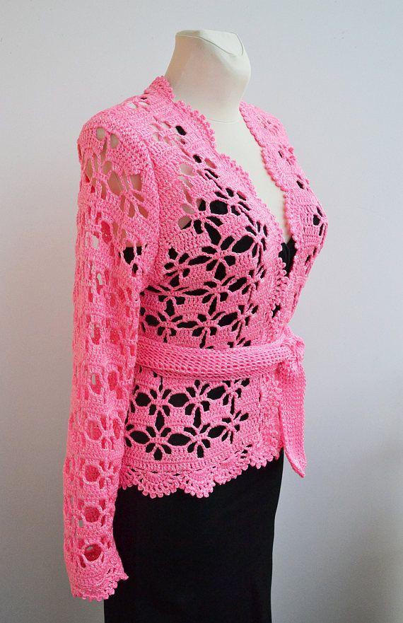 Crochet wedding bolero,Lace cardigan, Lace Wedding bolero, garden ...