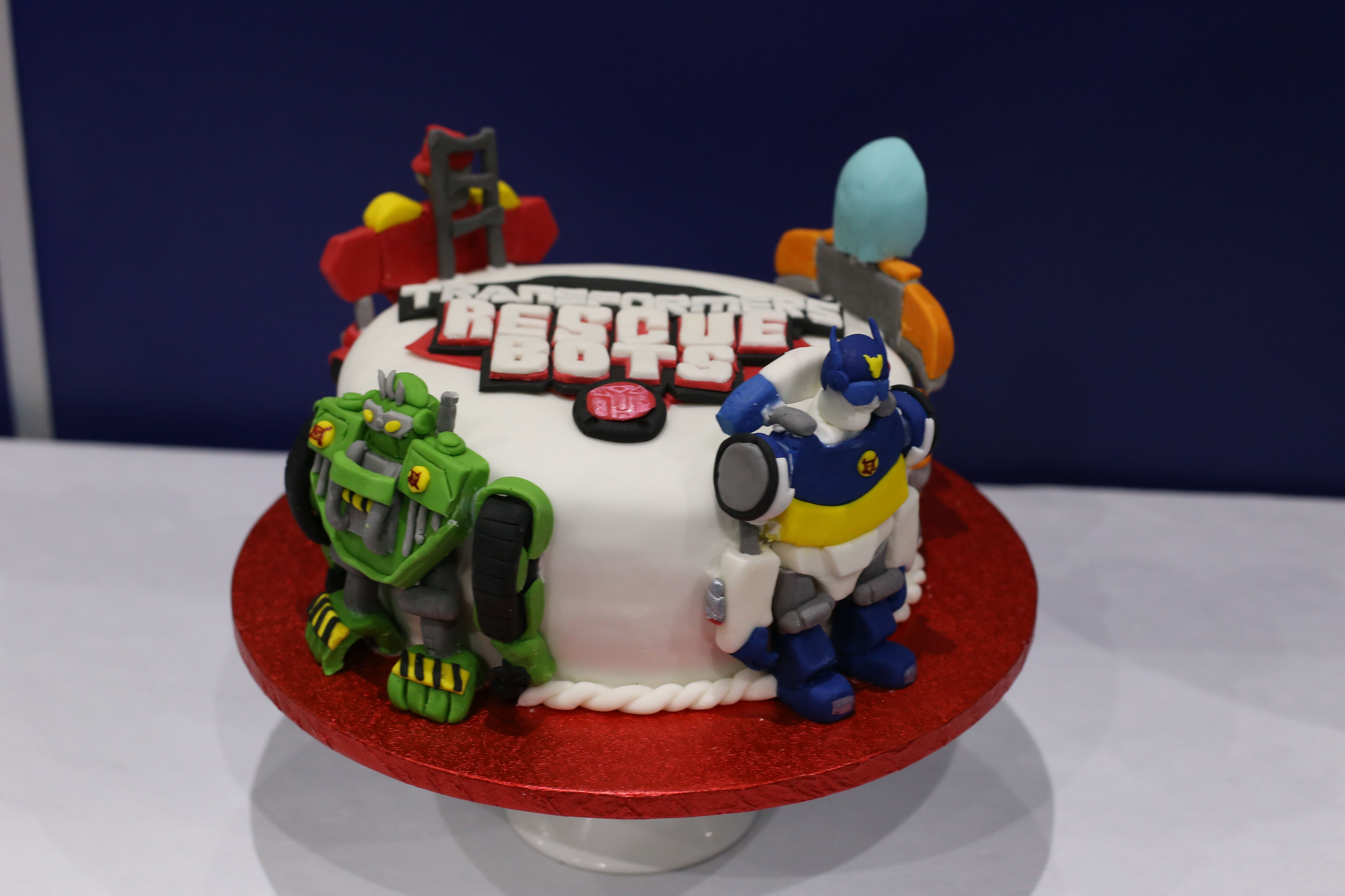 Transformers Rescue Bots Birthday Party Cake