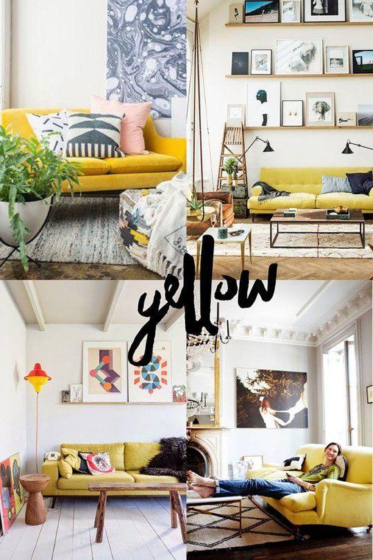 10+ Amazing Yellow Living Room Furniture