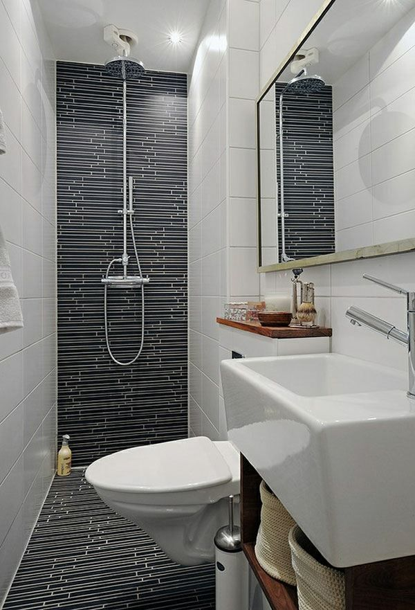 La petite salle de bain moderne idées de décoration Toilet, Tiny - decoration salle de bain moderne