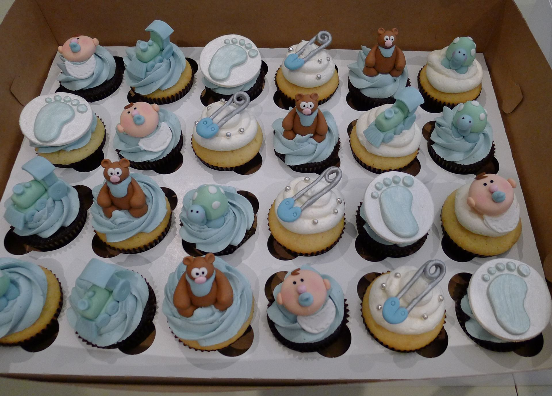 Baby Shower Themes For Boys | BACK! » Boy Baby Shower Blue Theme Cupcakes