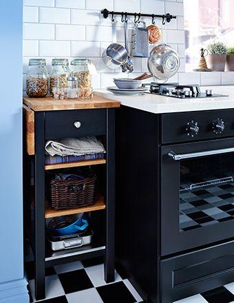 Carrello Cucina Ikea Usato.Carrello Ikea In Legno Con Ribalta Usato Come Piano Di Lavoro