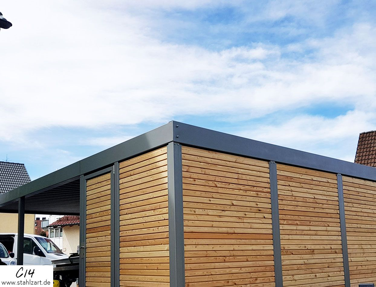 Außergewöhnlich Eingangsüberdachung L Form Galerie Von Metall-carport-uebersicht | Parktraum