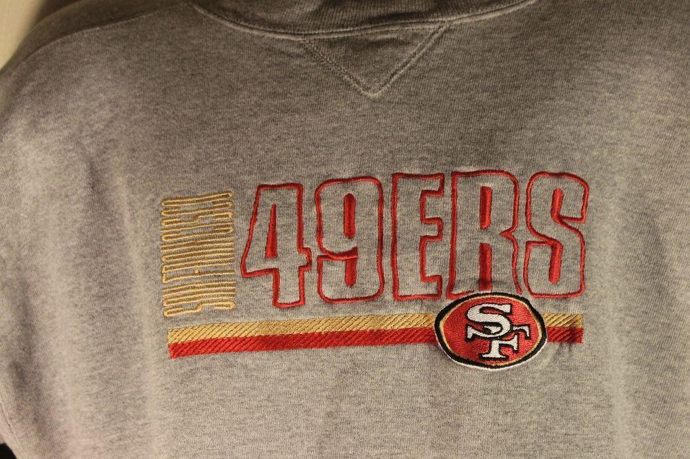 NFL Puma Sweatshirt San Francisco 49ers Gray Logo Embroidered Heavy Fleece  Sz XL #puma #