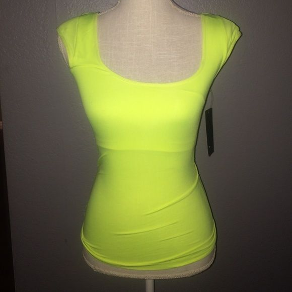 Yellow BCBG MaxAzria Shirt Perfect fit and it almost helps like wearing a spanx BCBGMaxAzria Tops