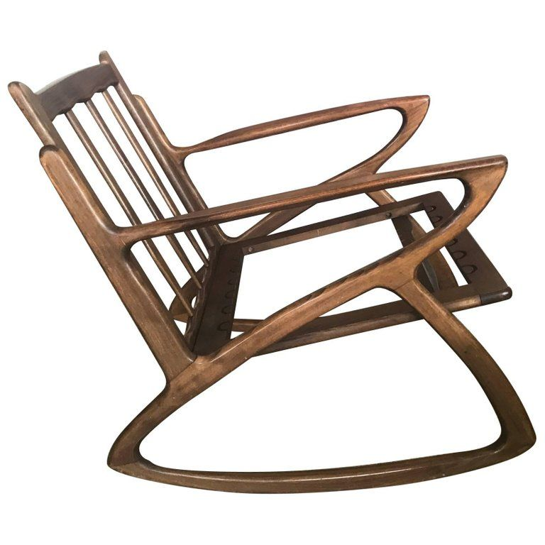 Stupendous Italian Rocking Chair 1950S Organic Design Midcentury For Gmtry Best Dining Table And Chair Ideas Images Gmtryco