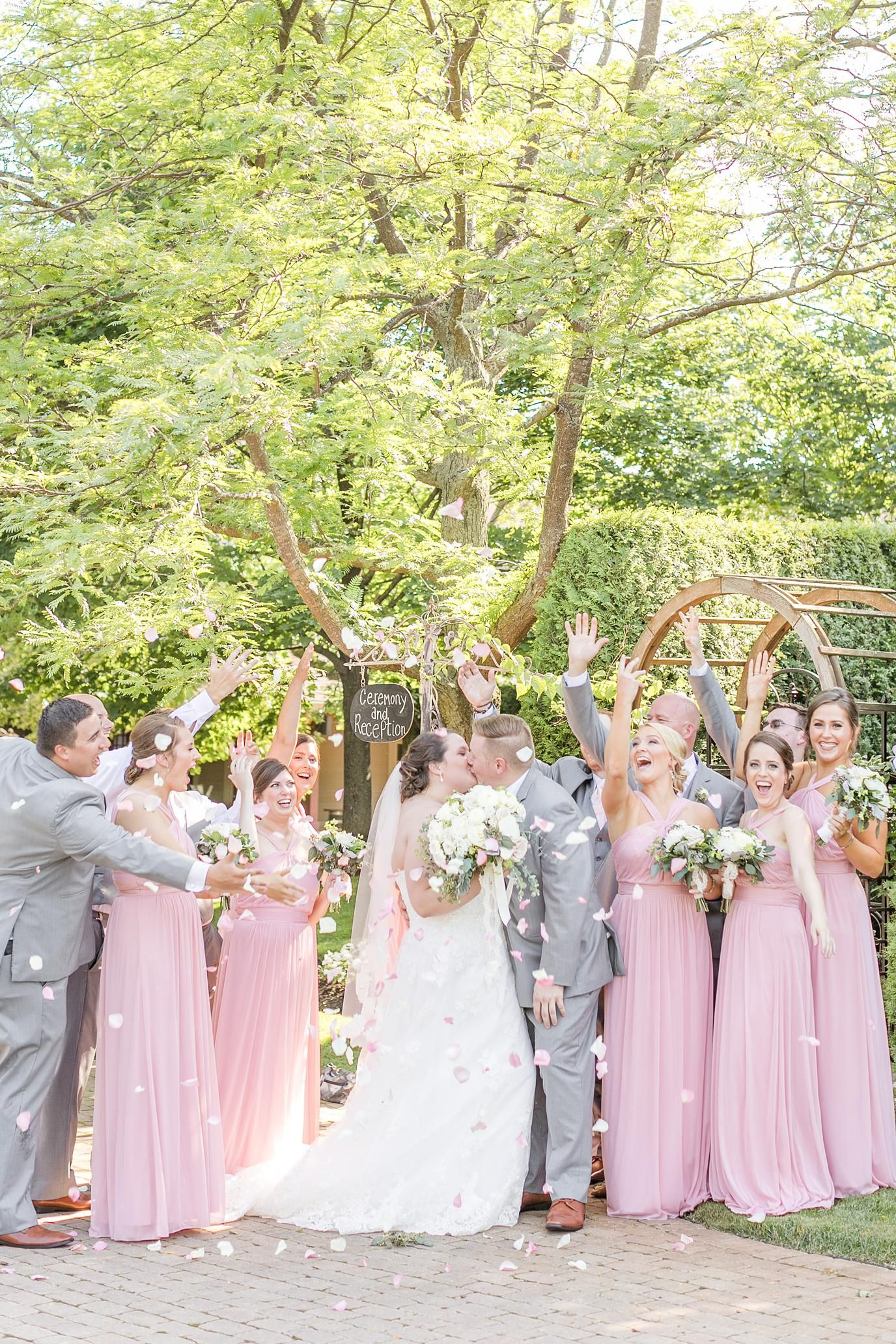 A classy and elegant blush wedding at the gardens of woodstock
