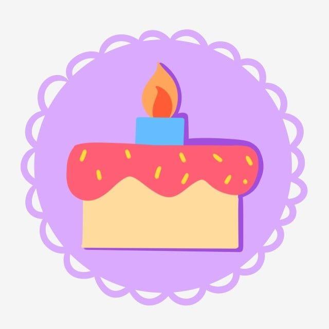 Birthday Cake Icon Decoration, Birthday Cake, Blue Candle ...