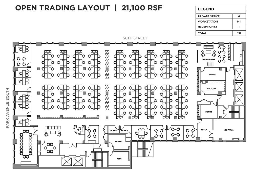 Open office floor plan i work pinterest office floor for New office layout design