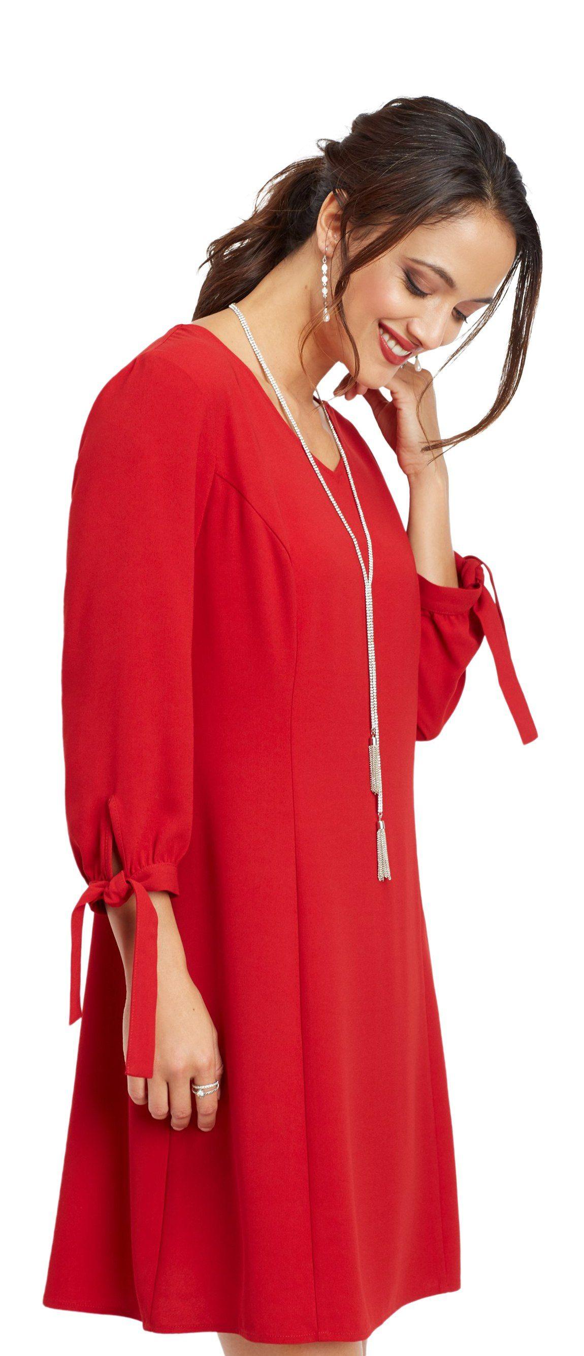 Maurices Tie Sleeve Shift Dress Walmart Com Shift Dress Dresses With Sleeves Dresses [ 2668 x 1150 Pixel ]