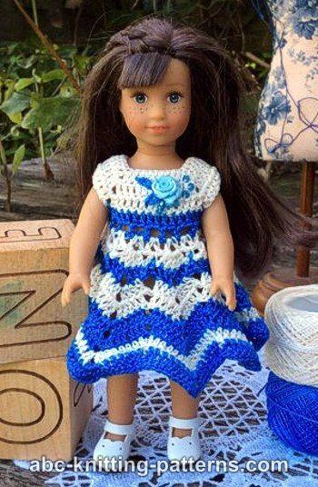 American Girl MINI Doll Chevron Dress | Crochet for dolls | Pinterest