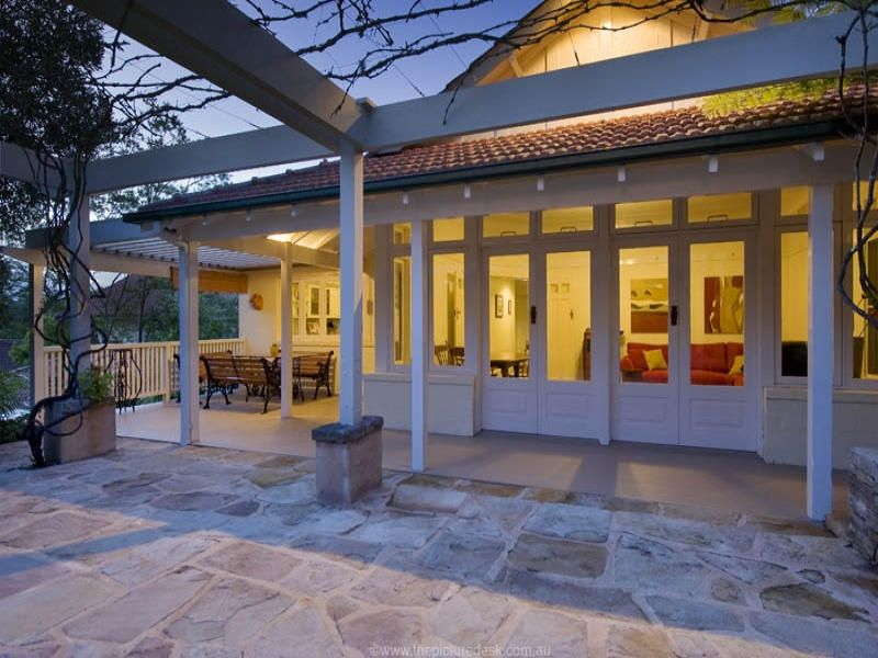 Verandah And Sandstone Paving