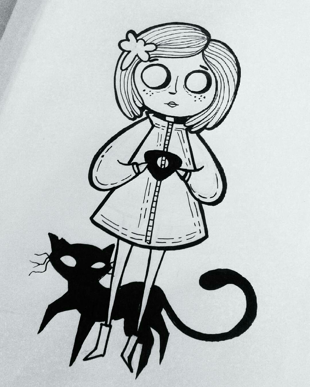 Pin By Brooklyn Taylor On Art Of The Body Coraline Art Coraline Tattoo Art Sketches