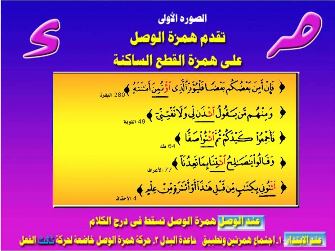 تجويد الكلمة همزة الوصل والقطع Teaching Quran Learning