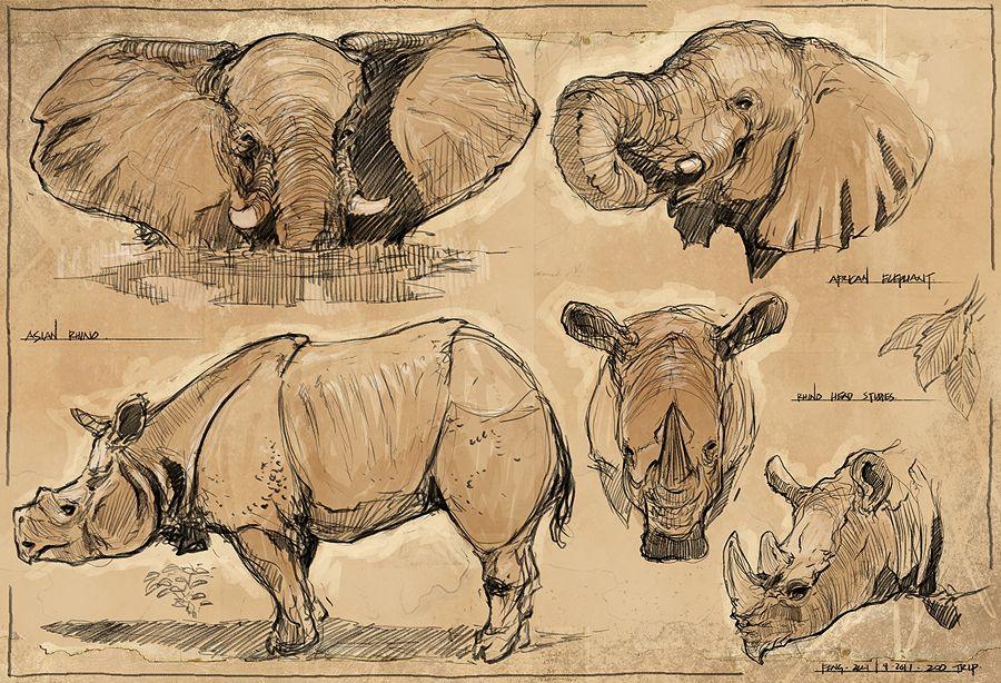 elephant/rhino