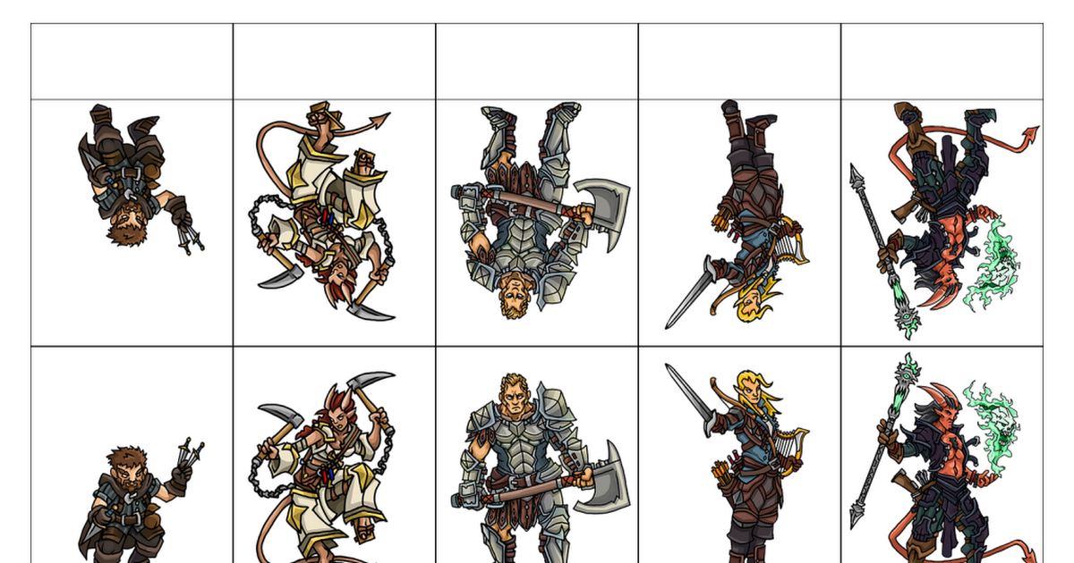 It is a picture of Légend Pathfinder Paper Minis Free Download